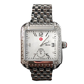 Michele Milou MWW15A000001 Stainless Steel & Diamonds 33mm Womens Watch