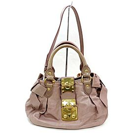 Miu Miu Hobo 2way 871881 Pink Leather Shoulder Bag