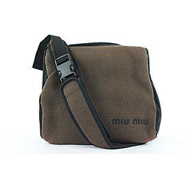 Miu Miu Olive Green Logo Messenger 186mm28