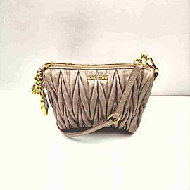 Miu Miu Quilted Pink Cinch Shoulder Bag 860066