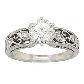 Simon G. 18K Two Tone Designer GIA Certified 1.07CTW Diamond Ring