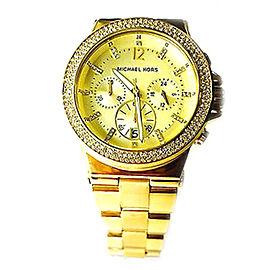 Michael Kors MK5386 44mm Chronograph Swarovski Glitz Gold Watch