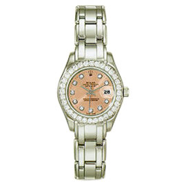 "Rolex Diamond ""Masterpiece"" 18K White Gold Watch"
