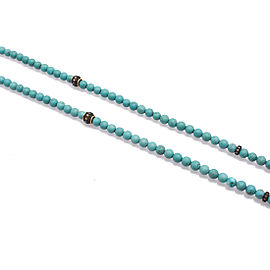 Armenta Old World 18k Yellow Gold Blackened Sterling Silver Magnesite Champagne Diamonds Necklace