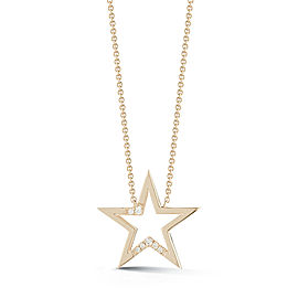 Yellow Gold Julianne Himiko Cut Out Star Necklace