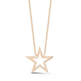 Rose Gold Julianne Himiko Cut Out Star Necklace