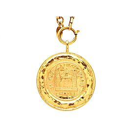 Vintage Chanel Necklace Shop Entrance Medal