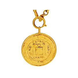 Chanel Gold Tone Metal 31 Rue Cambon Paris Medallion Necklace