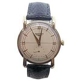Longines 14K Yellow Gold Hand Winding Vintage 32.6mm Mens Watch