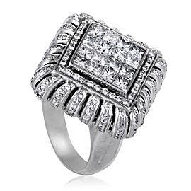 Nini 18K White Gold Diamond Ring Size 10