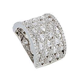 Odelia 18K White Gold & 3.00ct. Diamond Grid Band Ring Size 6.75