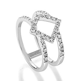 Odelia 18K White Gold Openwork Diamond Band Ring