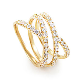 Odelia 18K Yellow Gold Diamond Band Ring