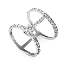 Odelia 18K White Gold & Diamond Openwork Band Ring