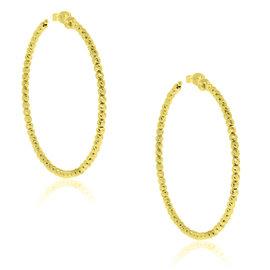 Officina Bernardi 18K Yellow Gold Plated Sterling Silver Hoop Earrings