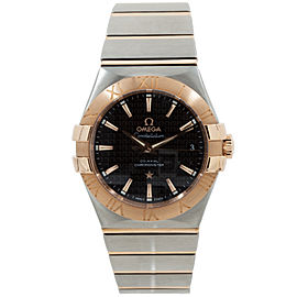 Omega Constellation 123.20.35.20.01.001 Stainless Steel & 18K Rose Gold Mens Watch