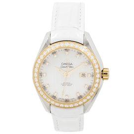 Omega Seamaster Aqua Terra 231.28.34.20.55.001 Stainless Steel & Yellow Gold Womens Watch