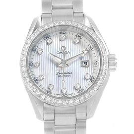 Omega Aqua Terra 231.15.30.61.55.001 Stainless Steel with Diamond Quartz 30mm Womens Watch