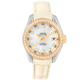 Omega Seamaster Aqua Terra 231.28.30.20.55.001 Stainless Steel 18K Rose Gold Diamond Automatic 30mm Womens Watch
