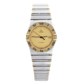 Omega Constellation 18K Yellow Gold and Stainless Steel 34mm Mens Watch