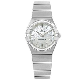 Omega Constellation 123.15.27.60.05.001 Stainless Steel wDiamond Quartz 27mm Womens Watch