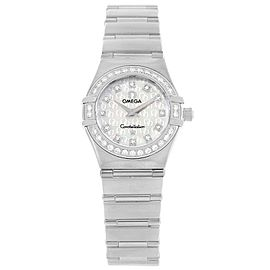 Omega Constellation 1460.75.00 Stainless Steel Mother of Pearl Dial Diamond Quartz 22.5mm Womens Watch
