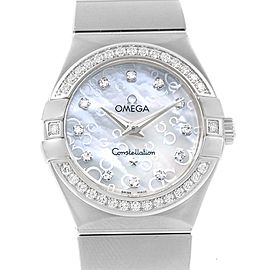 Omega Constellation 123.15.27.60.55.005 Stainless Steel with Diamond 27mm Womens Watch
