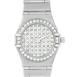 Omega Constellation 1455.77.00 Stainless Steel wDiamond Quartz 22.5mm Womens Watch