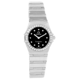 Omega Constellation 1465.51.00 Stainless Steel and Diamond 22.5mm Quartz Women Watch