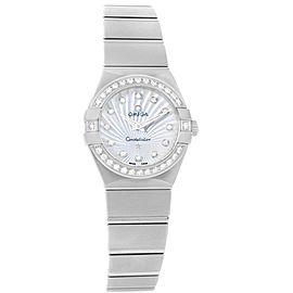 Omega Constellation 123.15.24.60.55.004 Stainless Steel wDiamond Quartz 24mm Womens Watch