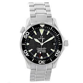 Omega Seamaster 2252.50.00 Stainless Steel Black Wave Dial Automatic 36.25mm Mens Watch