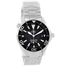 Omega Seamaster 2262.50.00 Stainless Steel & Black Dial Quartz 36.25mm Mens Watch