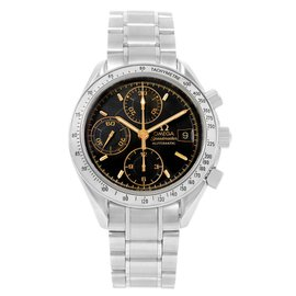Omega Speedmaster Date 3513.54.00 Stainless Steel Black Dial Automatic 39mm Mens Watch