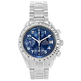Omega Speedmaster Date 3513.82.00 Stainless Steel Blue Arabic Dial Automatic 39mm Mens Watch