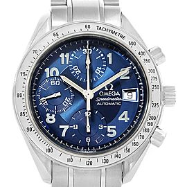 Omega Speedmaster 3513.82.00 Stainless Steel Date Arabic Blue Dial 39mm Mens Watch