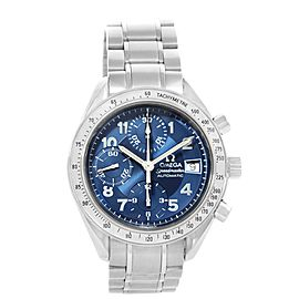 Omega Speedmaster 3513.82.00 Stainless Steel & Blue Arabic Dial 39mm Mens Watch
