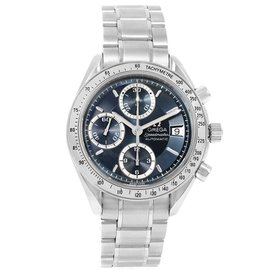 Omega Speedmaster Date 3513.46.00 Stainless Steel Blue/Grey Dial Automatic 40mm Mens Watch