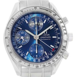 Omega Speedmaster Day-Date Blue Dial Mens Watch 3523.80.00 Box Papers
