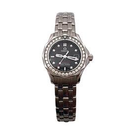 Omega Seamaster 21215286151001 Stainless Steel & Diamond 28mm Womens Watch