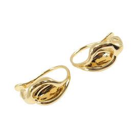 Tiffany & Co. Peretti 18K Yellow Gold Calla Lily Flower Cuff Earrings