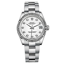 Rolex Datejust 178240 White Diamond Dial 31mm Women's Watch