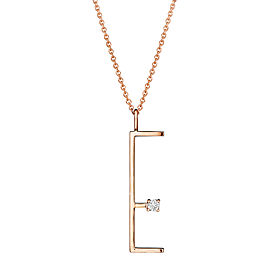 "Mimi So Type Letter ""E"" Pendant"