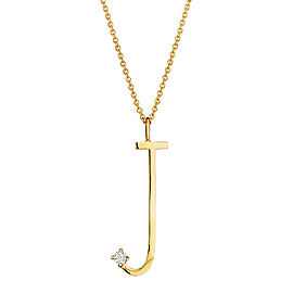 "Mimi So Type Letter ""J"" Pave Diamond Pendant"