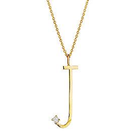 """Mimi So Type Letter """"J"""" Pave Diamond Pendant"""