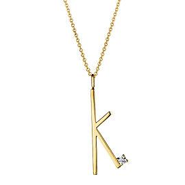 "Mimi So Type Letter ""K"" Pendant"