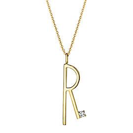 "Mimi So Type Letter ""R"" Pendant"