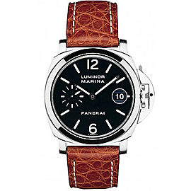 Panerai Luminor Marina Stainless Steel with Black Dial Automatic 40mm Mens Watch