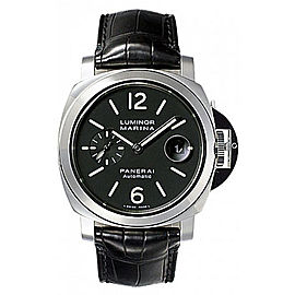 Panerai Luminor Marina Stainless Steel / Leather Automatic 44mm Mens Watch