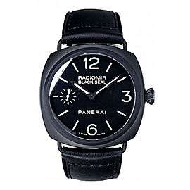 Panerai Radiomir PAM00292 Black Ceramic / Leather 45mm Mens Watch