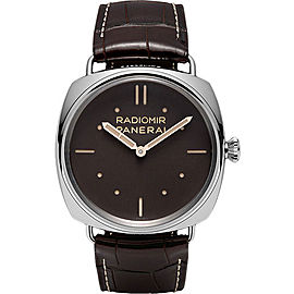 Panerai Radiomir Platinum / Leather Manual 47mm Mens Watch